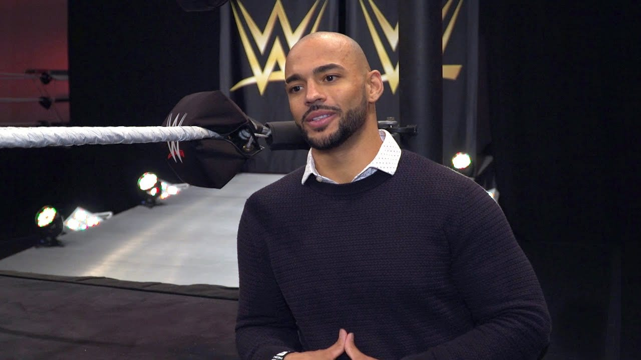 Footage of Ricochet at the WWE Performance Center