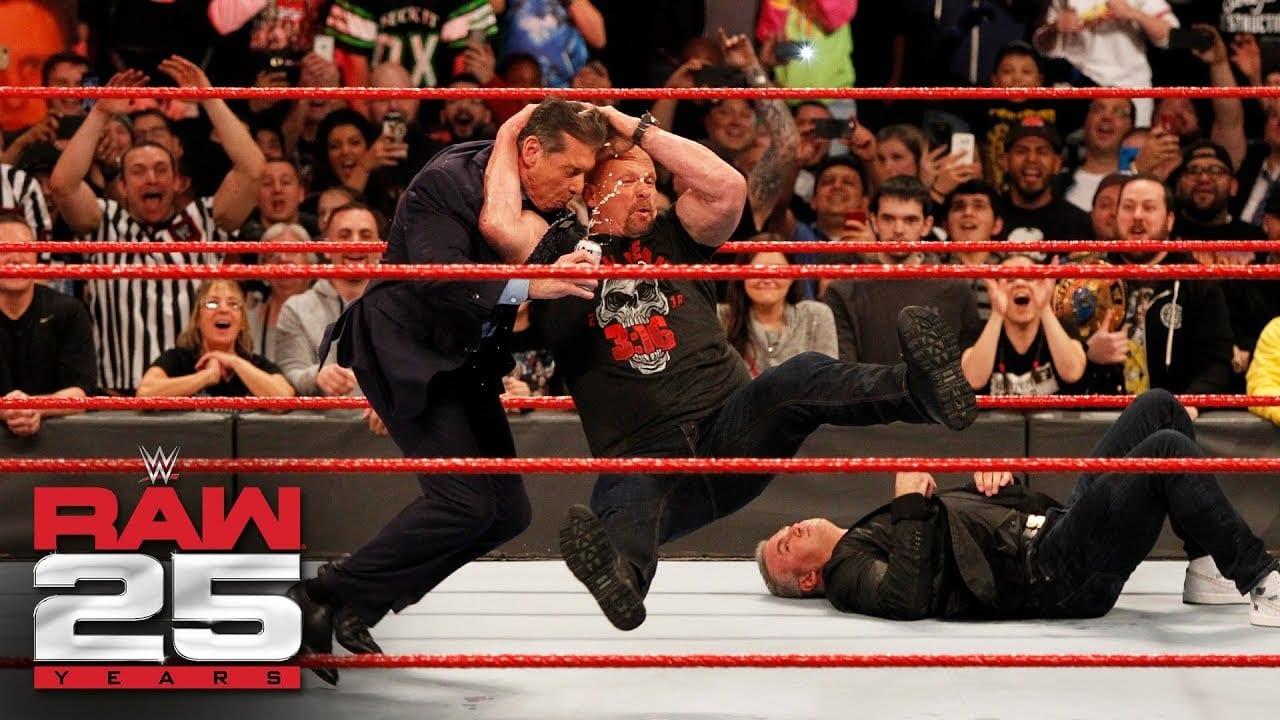 Footage: Steve Austin Stunning Vince & Shane McMahon