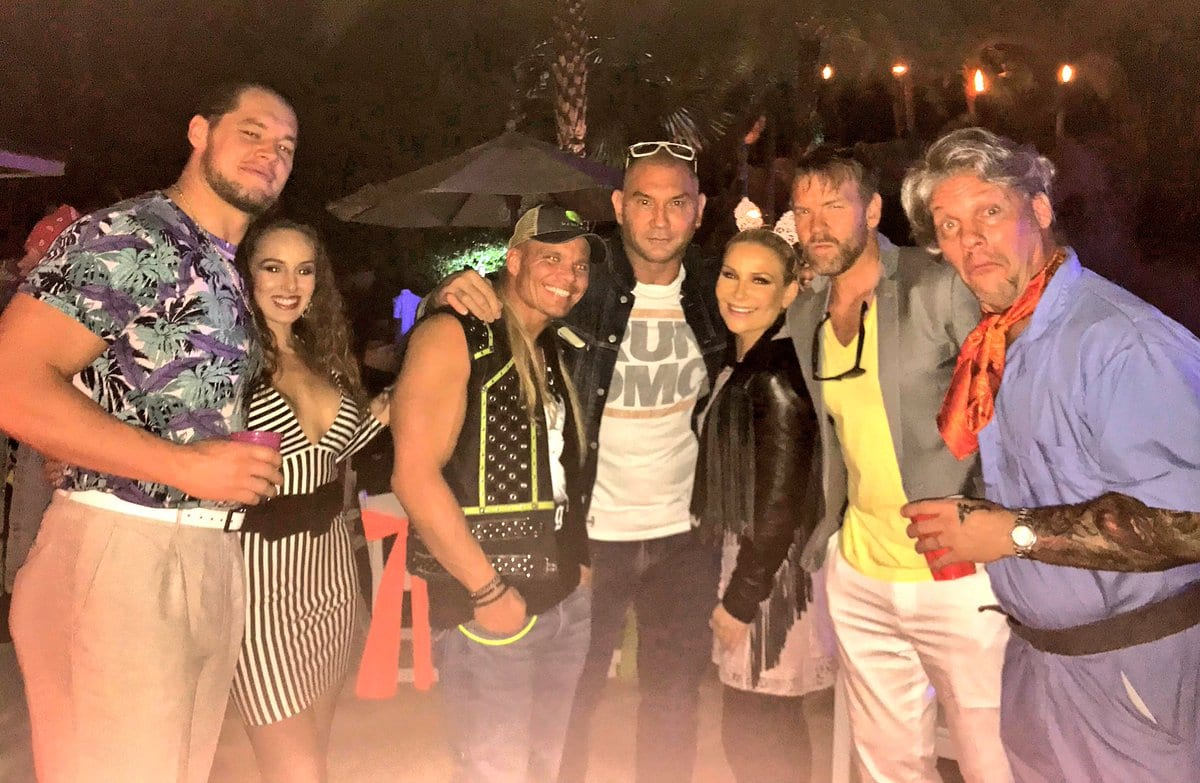 Batista & Chris Jericho Hang Out with WWE Superstars