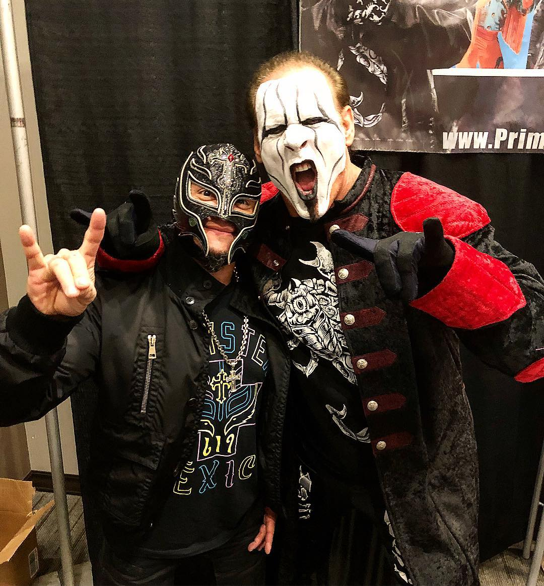 wcw reunion sting hangs out with rey mysterio