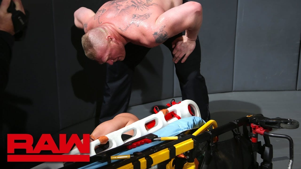Footage of Brock Lesnar's Return to RAW & Assault on Roman Reigns