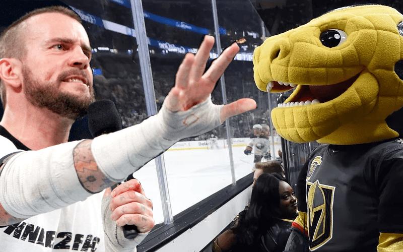 CM-Punk-Feuds-With-Vegas-Golden-Knights-Mascot