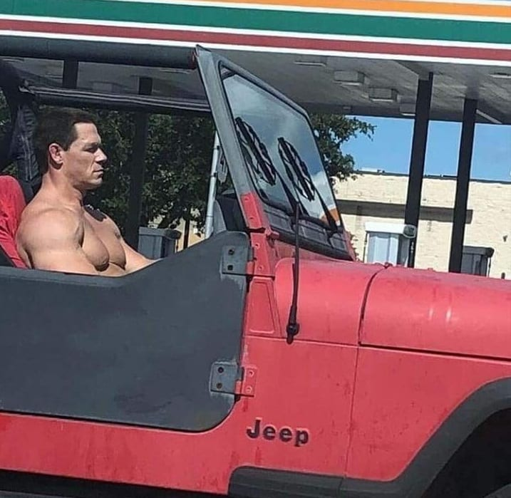 john cena shirtless douch nozzel terminator