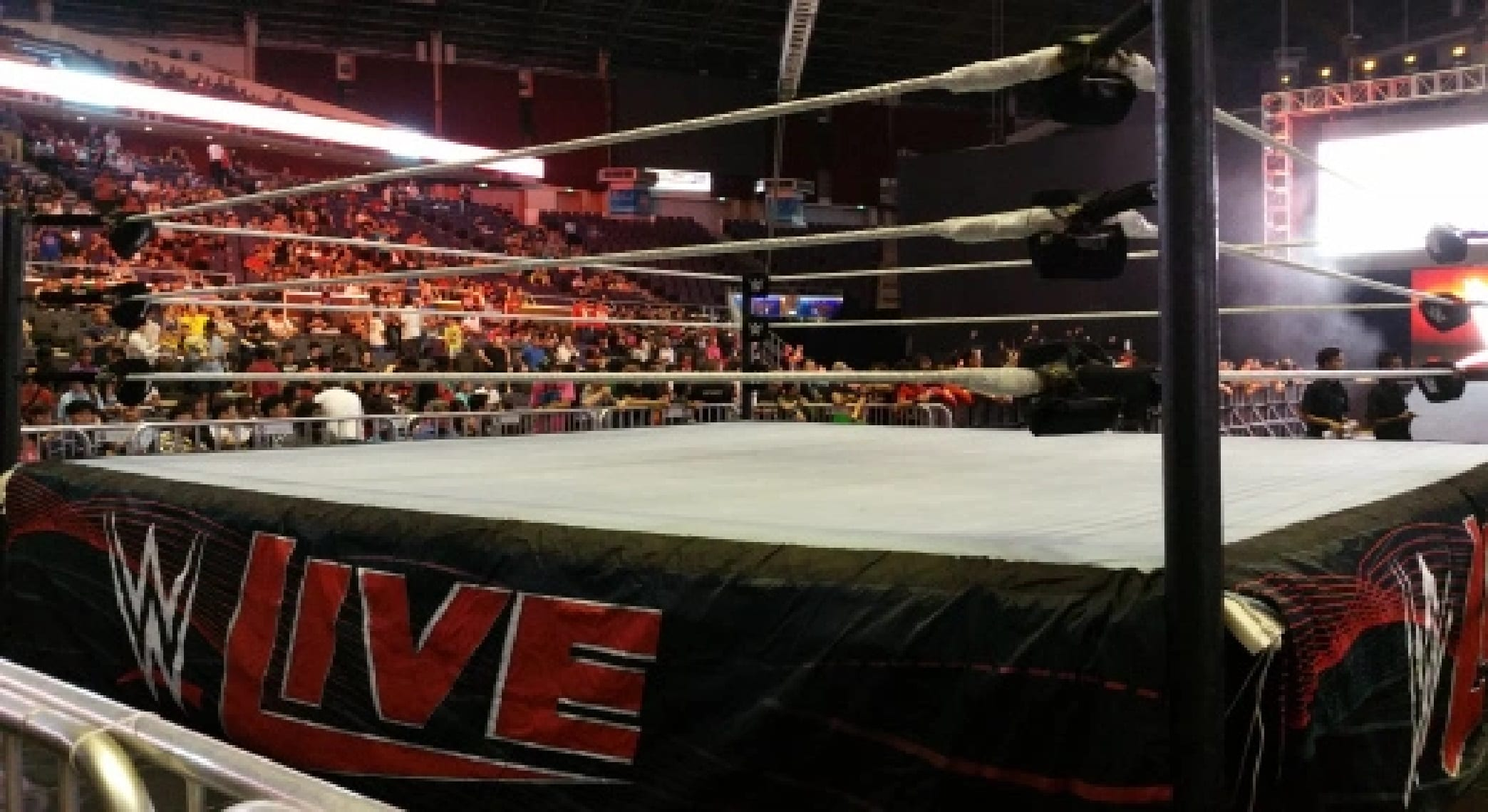 wwe live ring