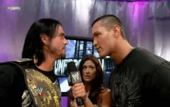 CM Punk World Heavyweight Championship Randy Orton Unforgiven 2008