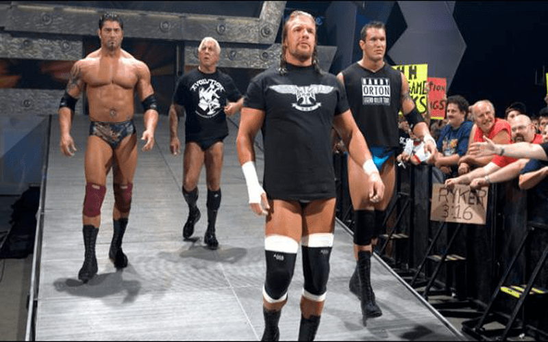 triple h and randy orton comment on evolution reunion