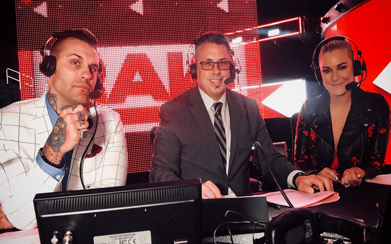 Renee Young Corey Graves Michael Cole RAW Commentary