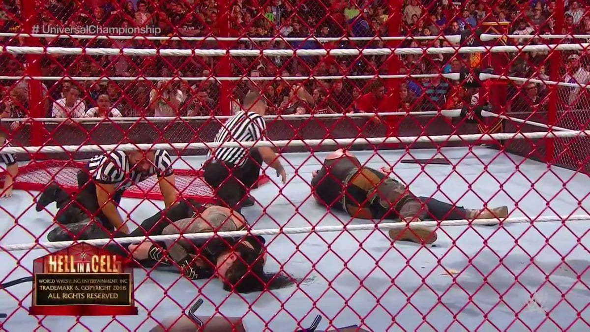 hell in a cell finish 2018 jesus christ what were they thinking