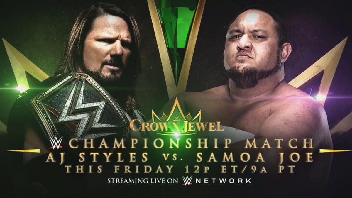 AJ Styles vs Samoa Joe Crown Jewel