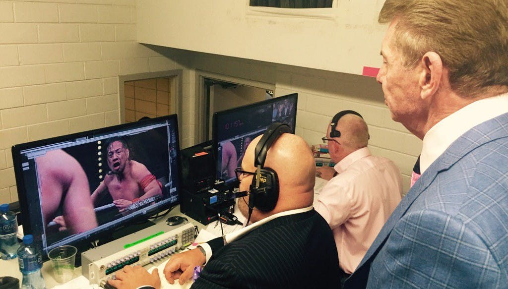 Vince McMahon watching NXT