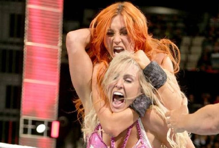 becky lynch charlotte flair not too nice to each other