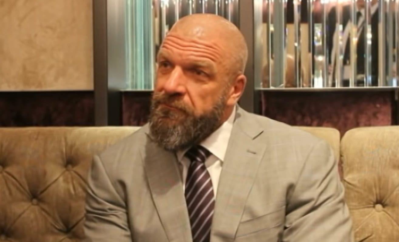 triple h suit looking good cocky interview