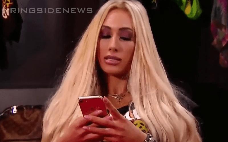 Carmella-on-Phone