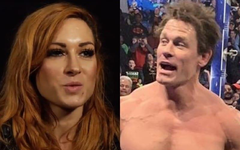 Becky Lynch Receives Big Help When Teasing John Cena Over