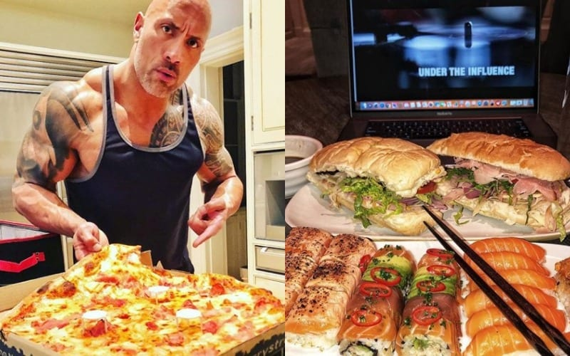 All Of The Rock S 2018 Instagram Cheat Meals