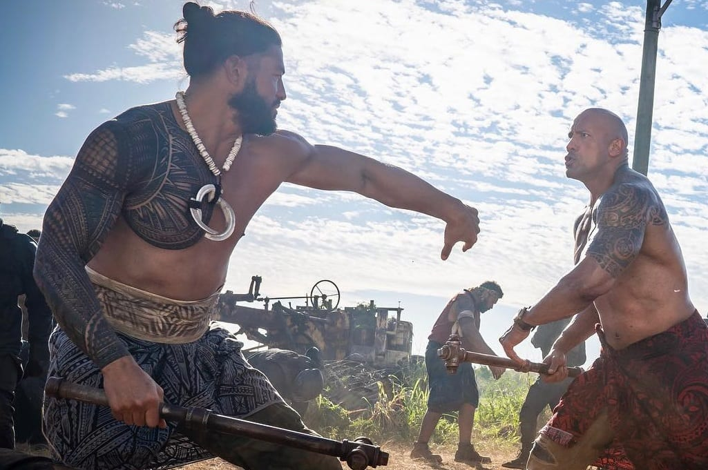 roman reigns the rock hobbs shaw