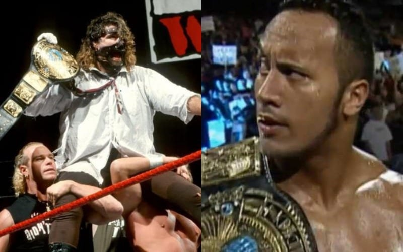 the rock mankind title win