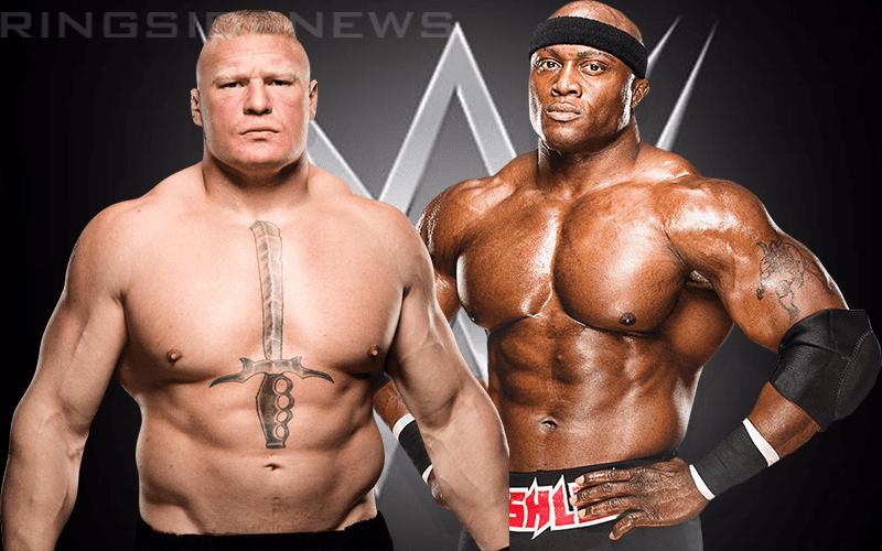 Is Wwe Considering Brock Lesnar Vs Bobby Lashley