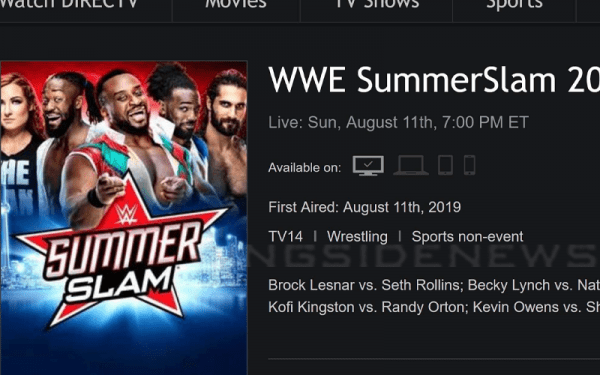 WWE Summerslam Listed As TV-14 Event