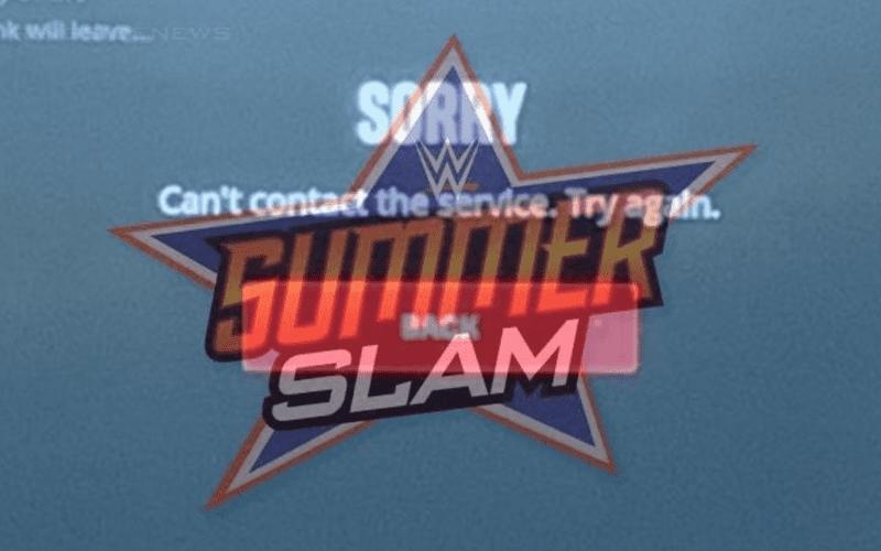 WWE Network Having MAJOR Issues For Summerslam