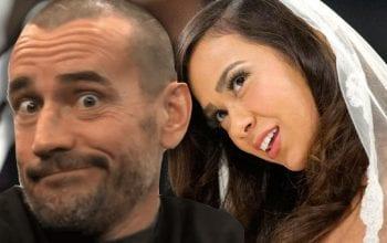 CM Punk Remembers AJ Lee's 'Ridiculous' Wedding Gown In Daniel Bryan Wedding WWE Angle