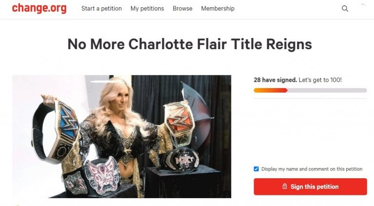 WWE To Push Charlotte Flair Again As Top Star; Tired Fans Start Petition 2