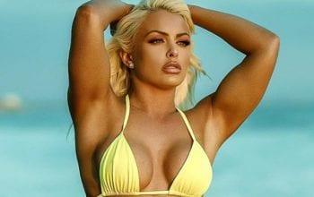 Mandy Rose Cheers Up Fans With Inspirational Yellow Bikini Photo Drop