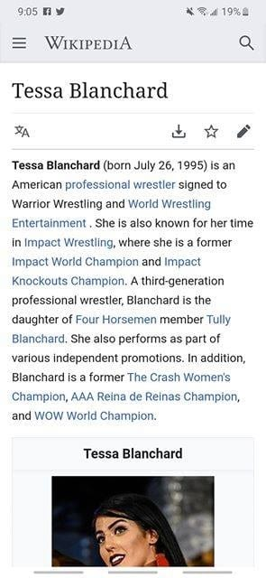 Update On Tessa Blanchard, Wikipedia Shows WWE Already Signed Her 2