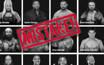 WWE Website Includes More Interesting Roster Errors