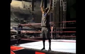 NBA Player Terrence Ross Plays In WWE Ring Before RAW In ThunderDome