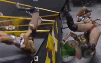 Shotzi Blackheart Reacts To Taking Botched Bump On Ring Apron On WWE NXT