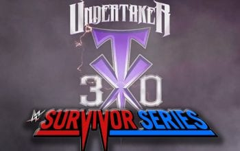 WWE Confirms Survivor Series Will Celebrate The Undertaker's 30th Anniversary
