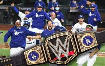 LA Dodgers Get Custom WWE Title Belt After World Series Win