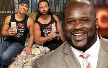 Shaquille O'Neal Gave Young Bucks Enthusiastic Reaction Backstage At AEW Full Gear