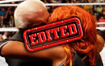 WWE Edits Ric Flair Kissing Becky Lynch From Royal Rumble