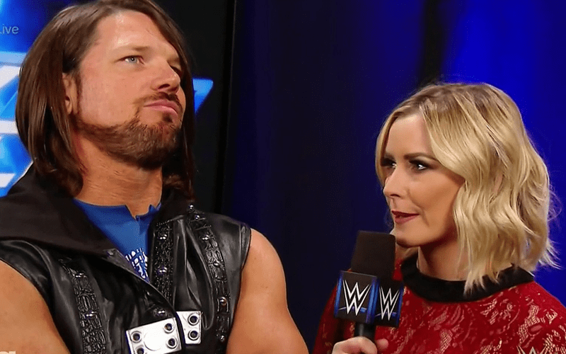 Renee-Paquette-Flexes-on-Accidentally-Making-AJ-Styles-Bleed