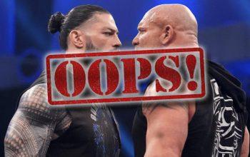 WWE Accidentally Advertises Roman Reigns vs Goldberg WrestleMania Match