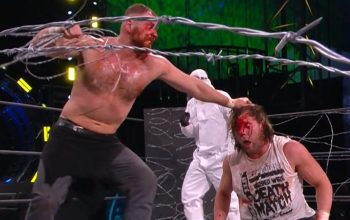 AEW Barbed Wire Deathmatch Brought Bloody Ending To Revolution PPV