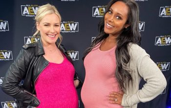 Renee Paquette Backstage At AEW Revolution