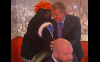 Wale Gets Hug From Vince McMahon Backstage During WrestleMania